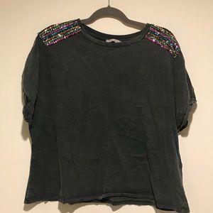 zara sequined tshirt size medium